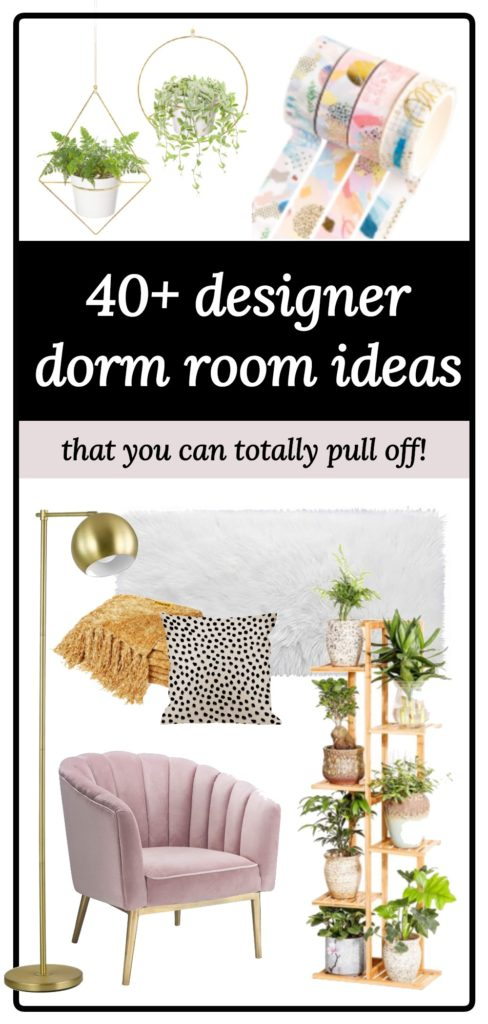 40 dorm room ideas graphic