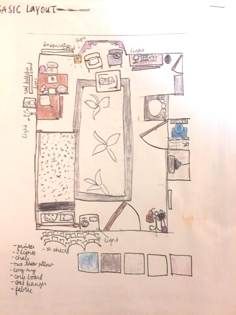 40 dorm room ideas - sketch image