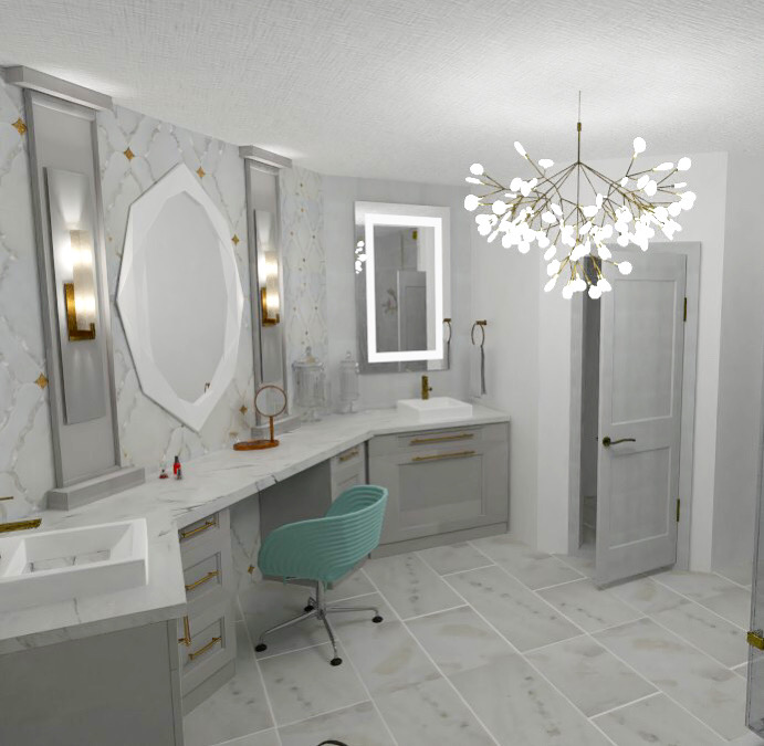 3D Bathroom Concept by Kaitlyn Loos Design